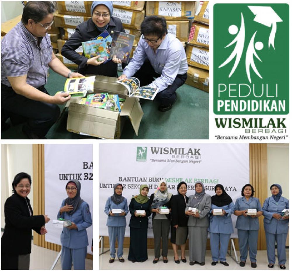 """4000 Bantuan Buku Dari """"WISMILAK BERBAGI"""" Untuk Surabaya : Wismilak Berbagi-Peduli Pendidikan, Terus dukung Peningkatan Pendidikan"""