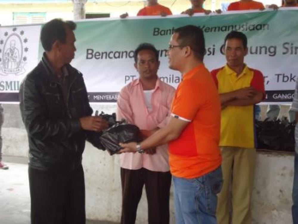 Bantuan Kemanusiaan Wismilak untuk Bencana Alam Erupsi Gunung Sinabung, Sumatera Utara
